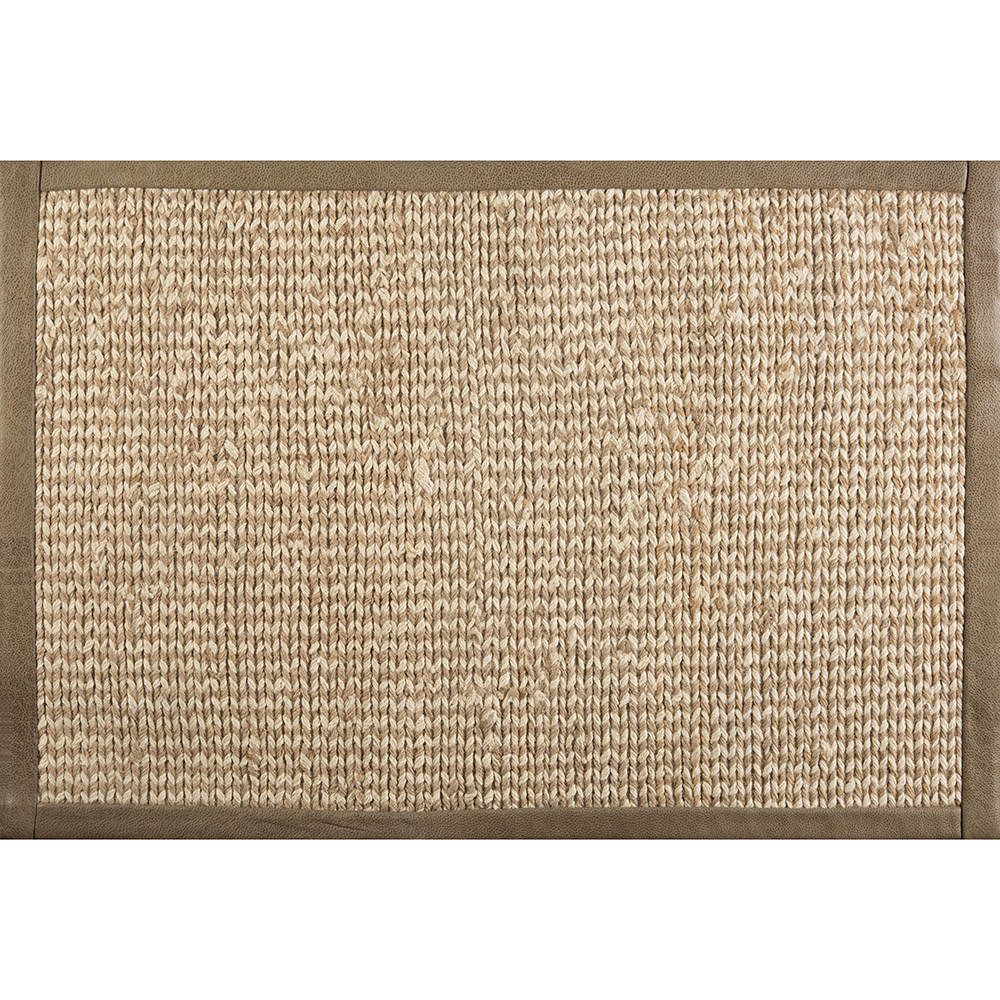 Area rug sample with wide binding, by J. Leigh Carpets.