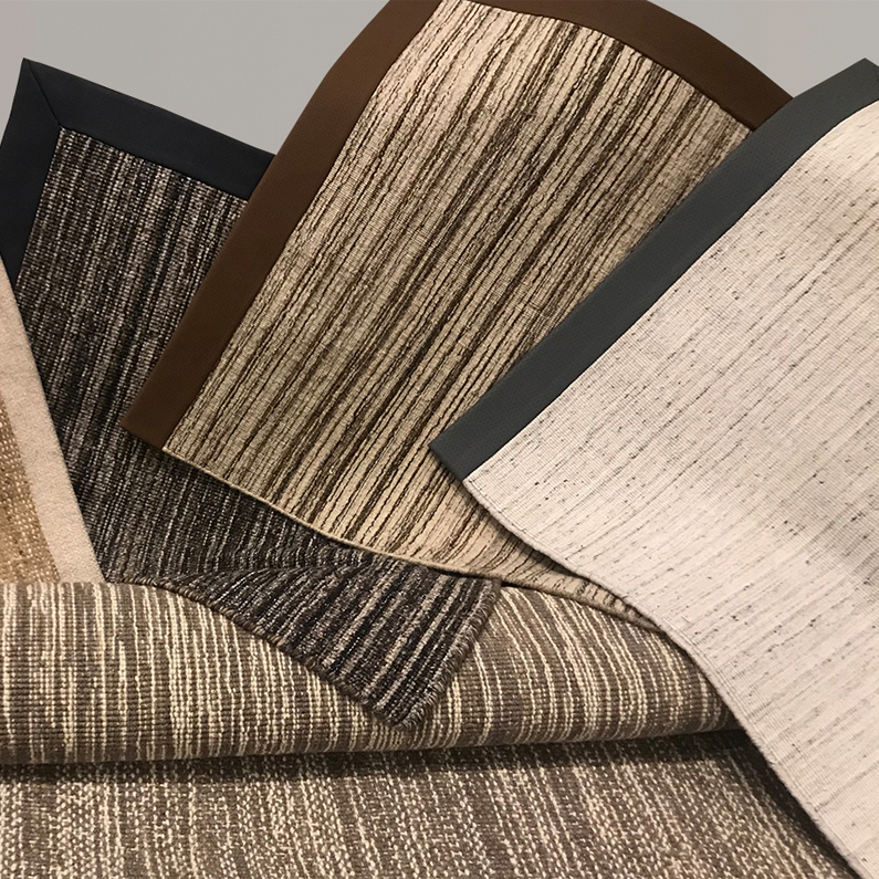 Area rug wide binding examples, by J. Leigh Carpets