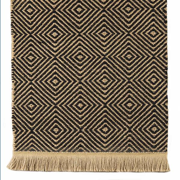 Natural fiber fringe, designer area rug option by J. Leigh Carpets