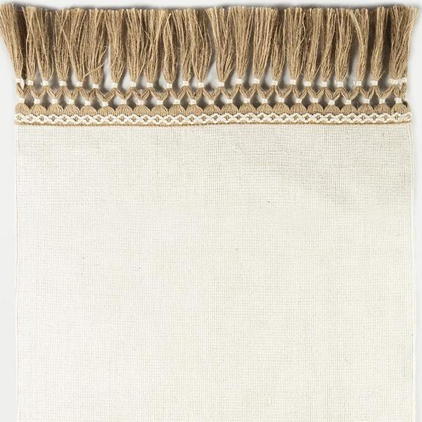 Flatweave with designer tassle fringe by J. Leigh Carpets