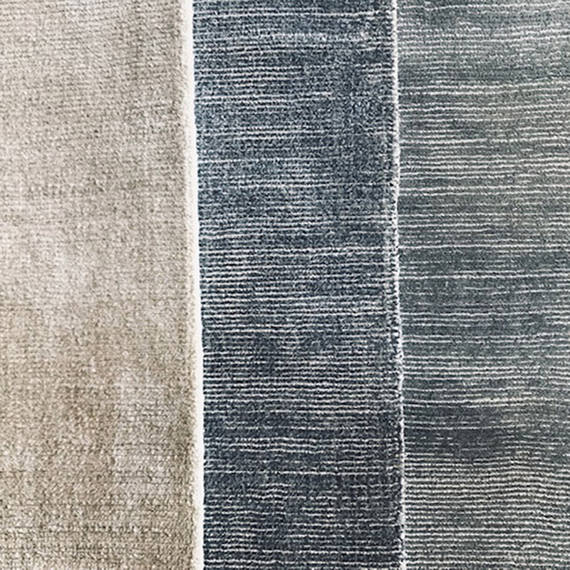 Rolled edging on Signature Area Rug colorways by J. Leigh Carpets