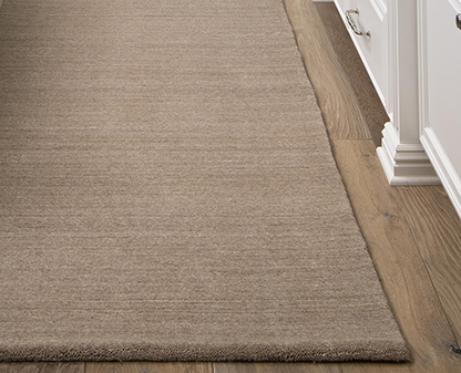 Example of a rolled edge finish on a kitchen area rug runner by J. Leigh Carpets