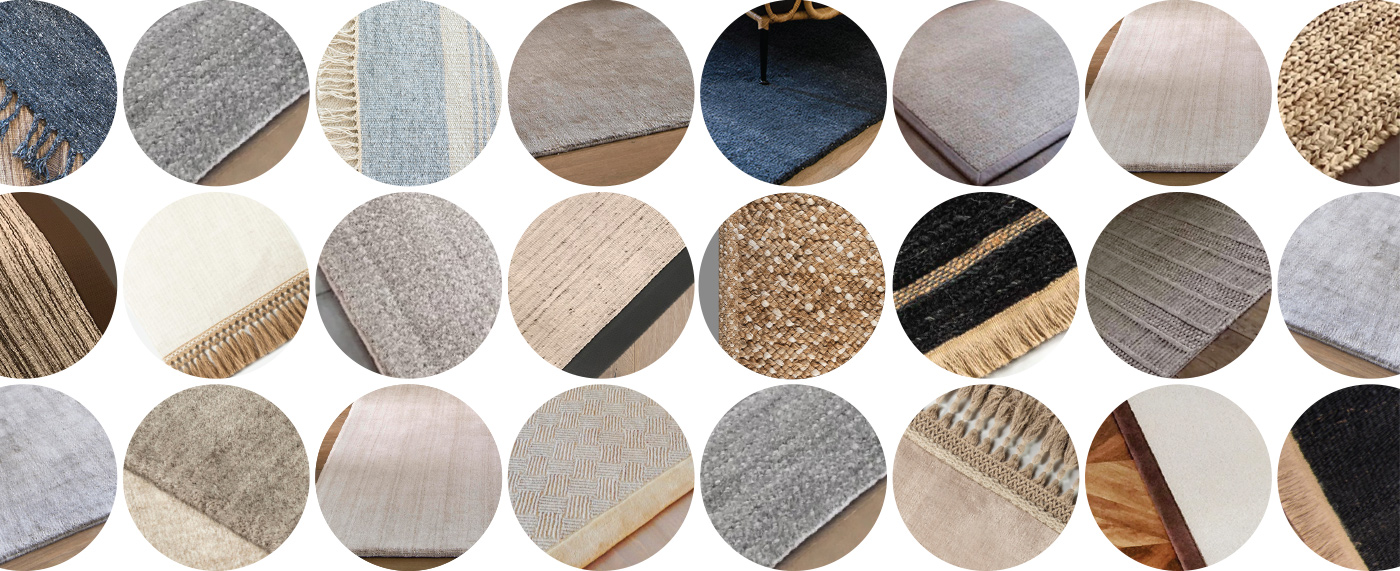 J. Leigh Carpets Signature Area Rugs Fine Finishing Options include custom wide binding, serging, rolled edge, and a variety of custom tassle binding options FFO